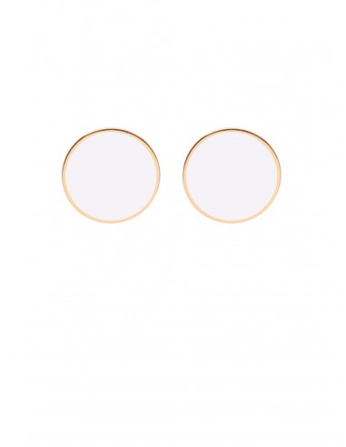 Orecchini Tappabuco bianco di Francesca Bianchi Design Arezzo 1