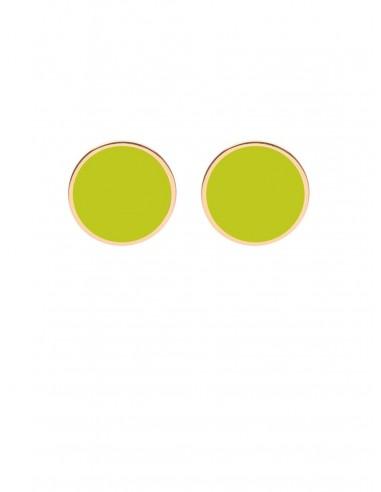 Orecchini Tappabuco verde acido di Francesca Bianchi Design