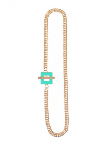 T-BAR QU Necklace - Turqoise  by Francesca Bianchi Design Arezzo Italy 1