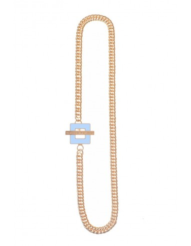 T-BAR QU Necklace - Light Blue  by Francesca Bianchi Design Arezzo Italy 1