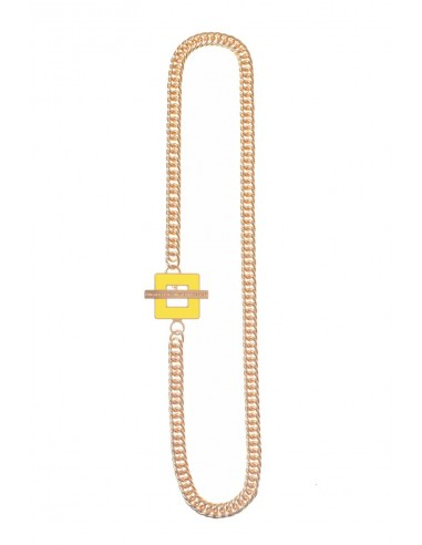 T-BAR QU Necklace - Yellow  by Francesca Bianchi Design Arezzo Italy 1