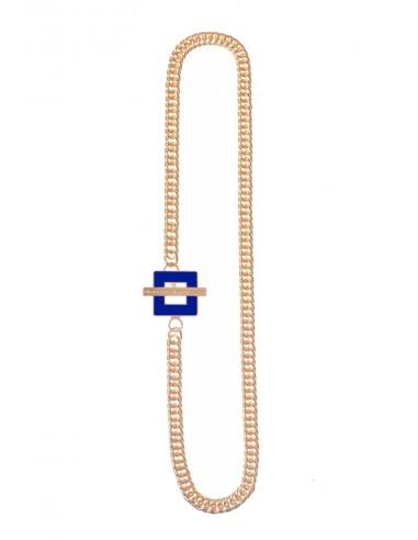T-BAR QU Necklace - Electric Blue