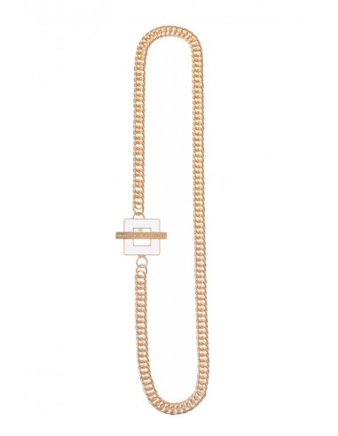 T-BAR QU Necklace - White  by Francesca Bianchi Design Arezzo Italy 1