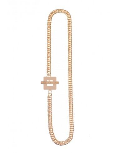 Collana T-BAR QU Crema di Francesca Bianchi Design