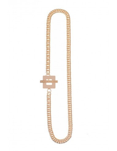 T-BAR QU Necklace - Cream