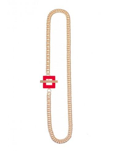 Collana T-BAR QU Rosso di Francesca Bianchi Design Arezzo 1