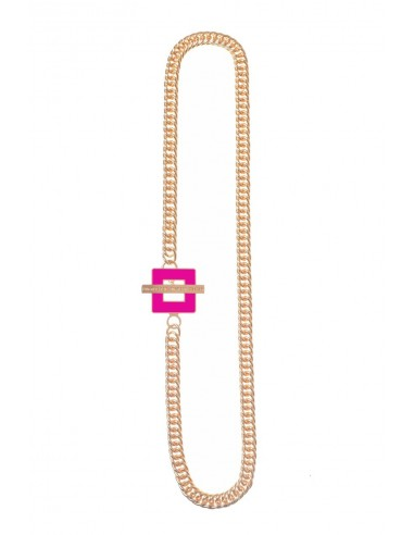 T-BAR QU Necklace - Fuchsia