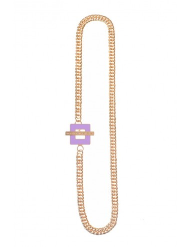 T-BAR QU Necklace - Lilac  by Francesca Bianchi Design Arezzo Italy 1