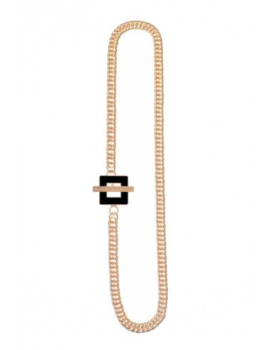 T-BAR QU Necklace - Black  by Francesca Bianchi Design Arezzo Italy 1
