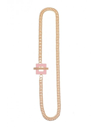 T-BAR QU Necklace - Pink  by Francesca Bianchi Design Arezzo Italy 1