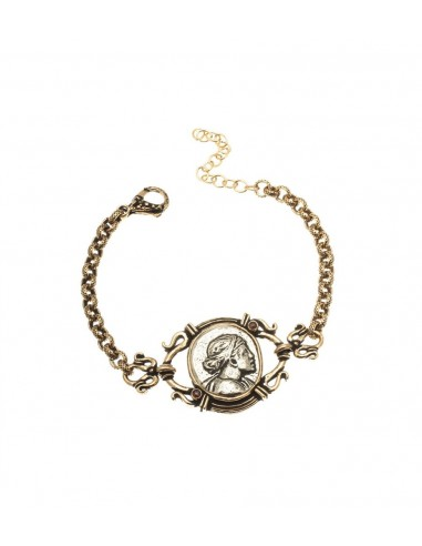 Silver Coin Bracelet by Alcozer & J Florence