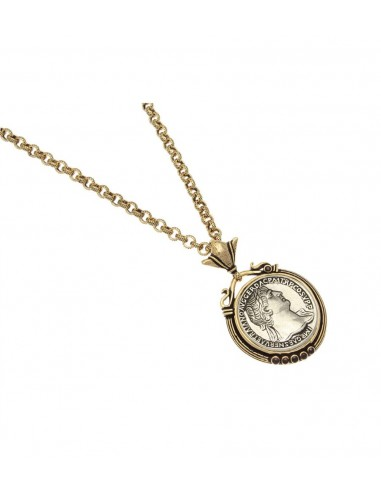 Silver Coin Necklace by Alcozer & J Florence