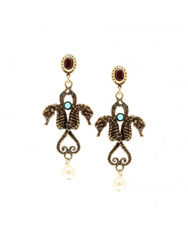 Two Seahorse Earrings by Alcozer & J Florence