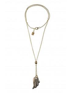Cameo Necklace on Baroque Frame around neck