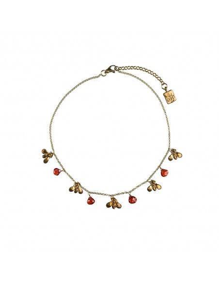 Starfish Necklace with Magnesite Heart around neck