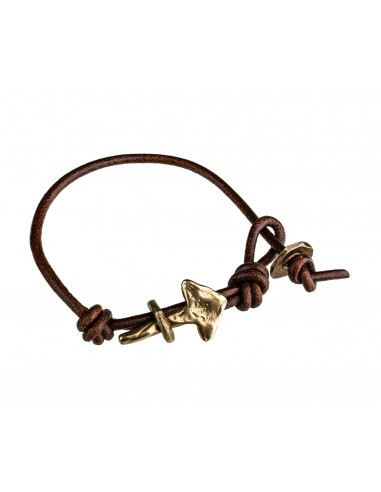 Arrow Buffalo Leather Bracelet by Creazioni Solaria Florence Italy 1
