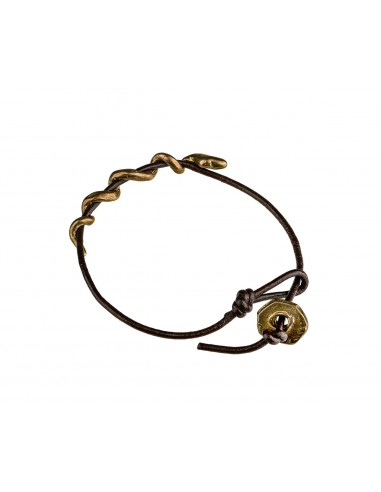 Snake Buffalo Leather Bracelet