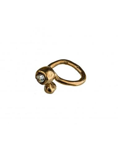 Round Bezel Ring by Creazioni Solaria Florence Italy 1