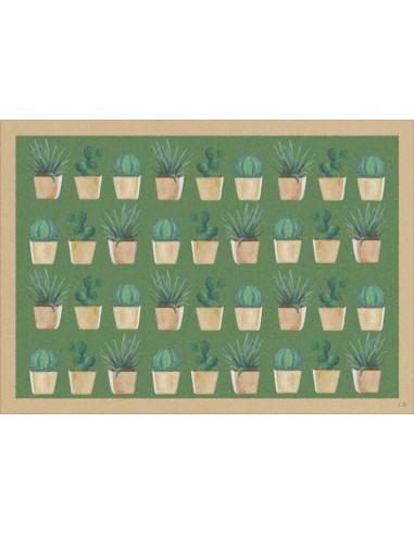 Plastic American Placemat Cactus 1 - Set of 4