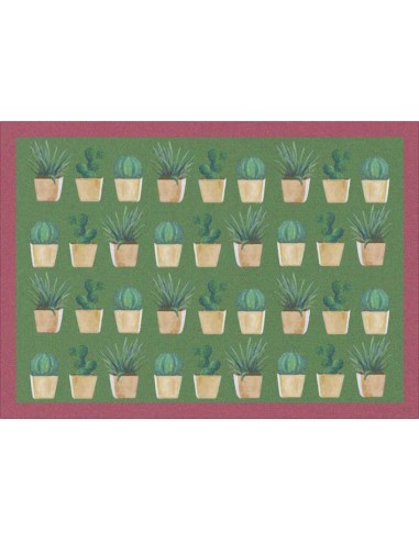 4 Plastic Placemats Small Cactus - Antique Pink by Cecilia Bussani Florence