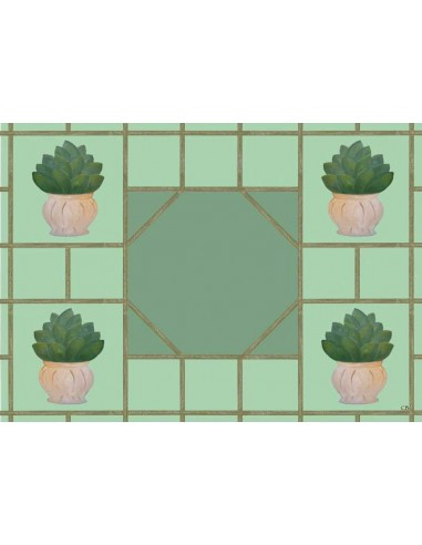 4 Plastic Placemats Garden by Cecilia Bussani Florence