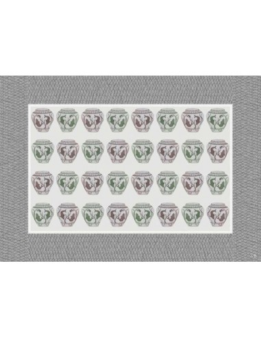 4 Tovagliette Plastificate Vasi Pesci Piccoli - Grigio di Cecilia Bussani Firenze
