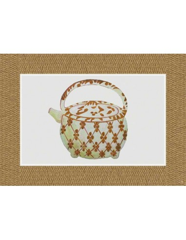 4 Plastic Placemats Big Teapot - Natural by Cecilia Bussani Florence