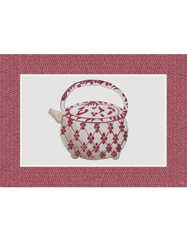 Plastic American Placemat Big Teapot 2 - Set of 4