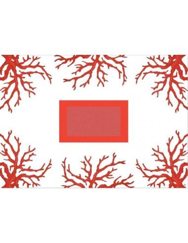 Tovaglietta Americana Plastificata Coralli 5 - Set di 4 di Cecilia Bussani