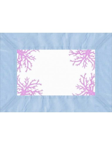 4 Plastic Placemats Corals - Light Blue and Lilac by Cecilia Bussani Florence