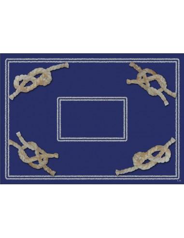 4 Plastic Placemats Nodes - Blue by Cecilia Bussani Florence