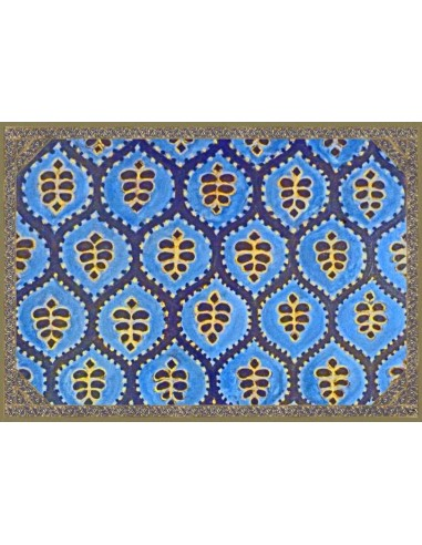 4 Plastic Placemats Ethnic - Blue and Green by Cecilia Bussani Florence