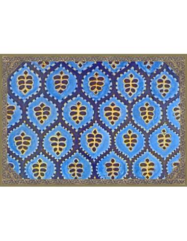 4 Tovagliette Plastificate Etnica - Blu e Verde di Cecilia Bussani Firenze