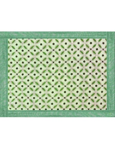 4 Plastic Placemats Ethnic - Green by Cecilia Bussani Florence