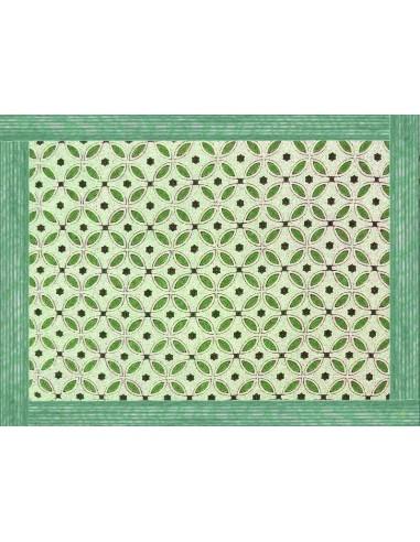 4 Tovagliette Plastificate Etnica - Verde di Cecilia Bussani Firenze