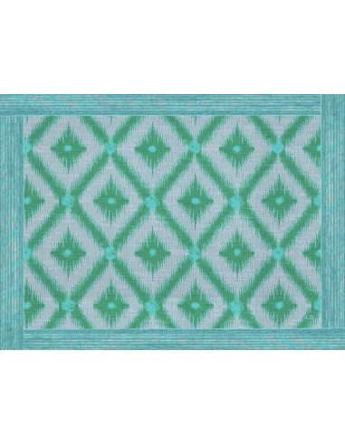 4 Plastic Placemats Ethnic - Lozenges Water Green by Cecilia Bussani Florence