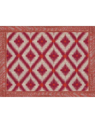 4 Plastic Placemats Ethnic - Lozenges Red by Cecilia Bussani Florence