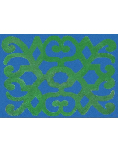 4 Plastic Placemats Turkey - Blue and Green by Cecilia Bussani Florence