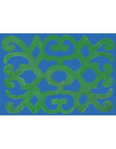 4 Tovagliette Plastificate Turchia - Blu e Verde di Cecilia Bussani Firenze
