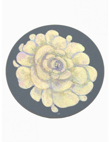 6 Masonite Coasters Flower - Dark Grey by Cecilia Bussani Florence