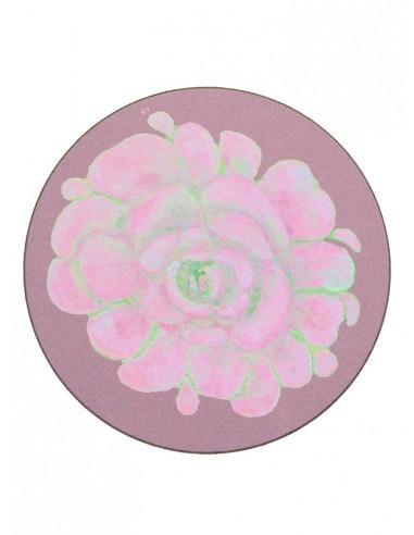 Masonite Pink Flower Under Plate - Small