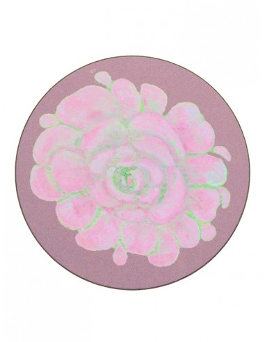 6 Masonite Coasters Flower - Antique Pink by Cecilia Bussani Florence
