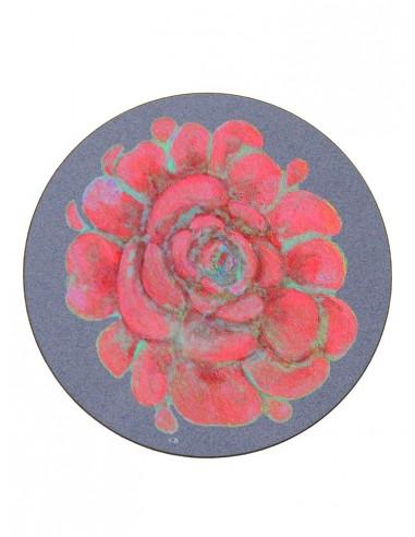 Masonite Red Flower Under Plate - Small