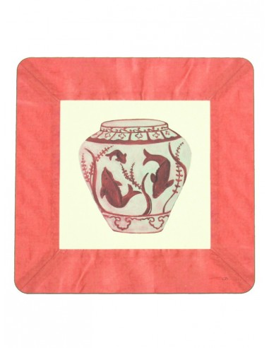 Masonite Under Plate Fish Vase - Coral by Cecilia Bussani Florence