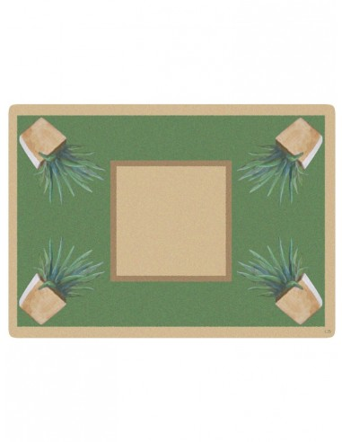 2 Masonite Trivets Cactus - Beige by Cecilia Bussani Florence