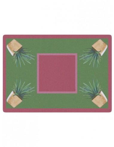 Tovaglietta Masonite Cactus - Rosa Antico di Cecilia Bussani Firenze