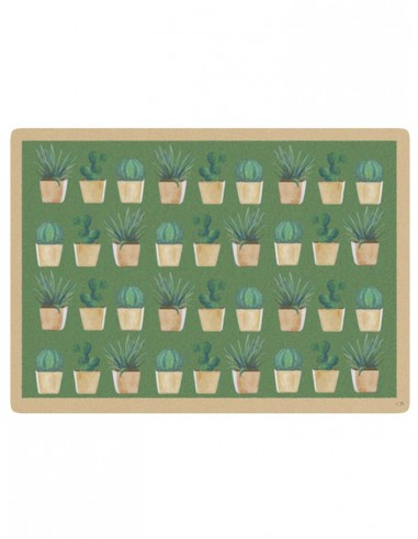 Masonite Placemat Small Cactus - Beige by Cecilia Bussani Florence