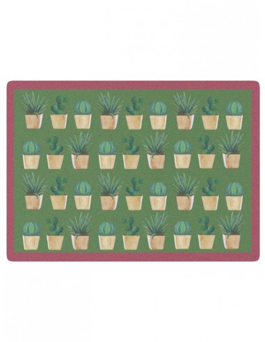 Masonite Placemat Small Cactus - Light Green by Cecilia Bussani Florence