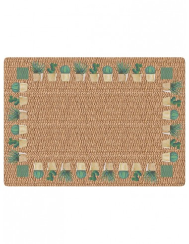 Masonite Placemat Cactus - Natural by Cecilia Bussani Florence