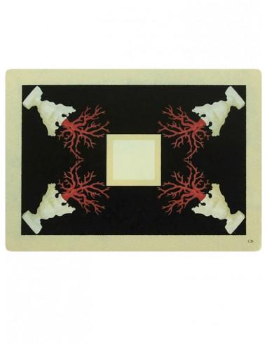 2 Masonite Trivets Corals - Black by Cecilia Bussani Florence